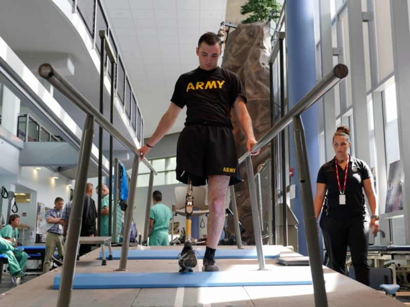 Soldier Self-amputates Leg to Aid Buddies