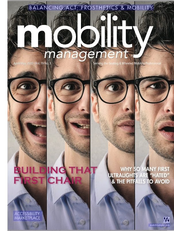 Mobility Management magazine for wheelchair users, amputees, and people with disabilities.