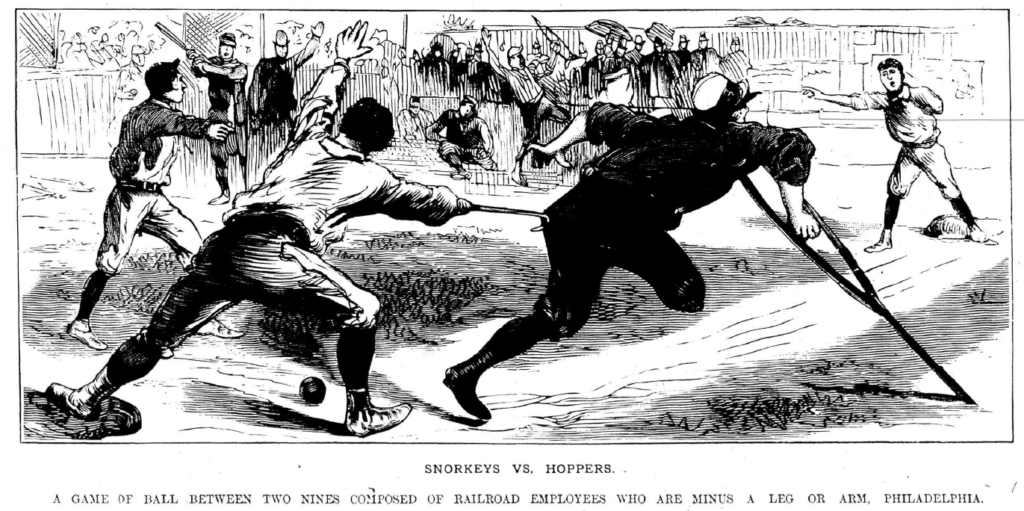 Amputee baseball players 19th century Snorkeys and Hoppers