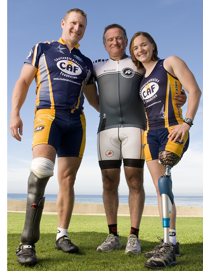 Robin Williams amputees Challenged Athletes Foundation