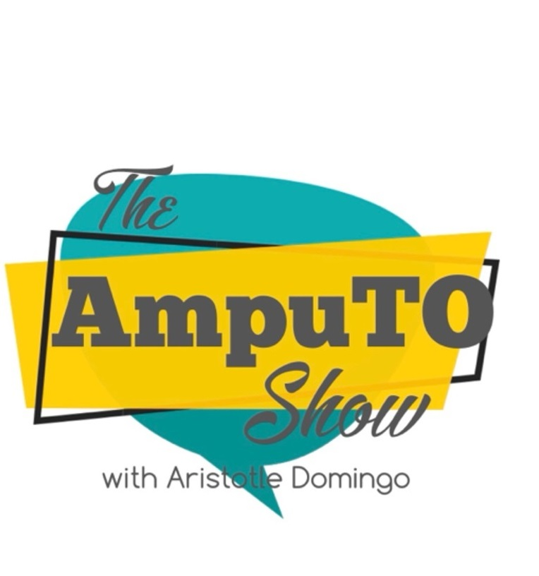 Logo for AmpuTO, a podcast for amputees